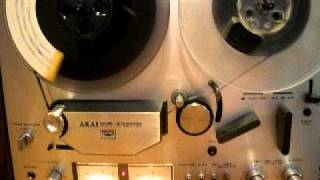 AKAI GX 4000D Reel to Reel Operations Demo. ZCUCKOO