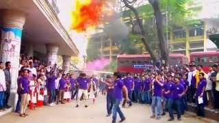 Flash-Mob of 7th batch Management Studies, Jagannath University- Rag Day 2015