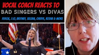 Vocal Coach Reacts to Bad Female Singers Vs Diva's (Fergie Vs Lady Gaga    Selena Vs Demi Lovato)