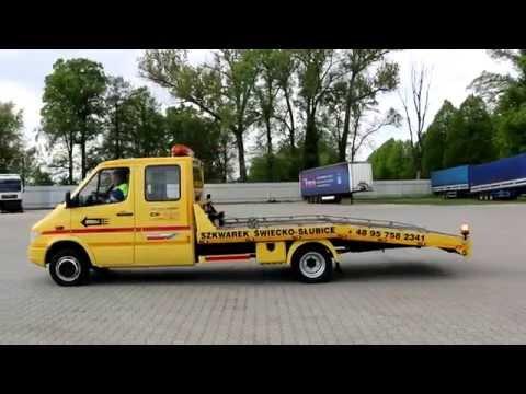Laweta Niemcy - Holowanie Świecko Słubice - SZKWAREK - Mercedes Sprinter Renowacja
