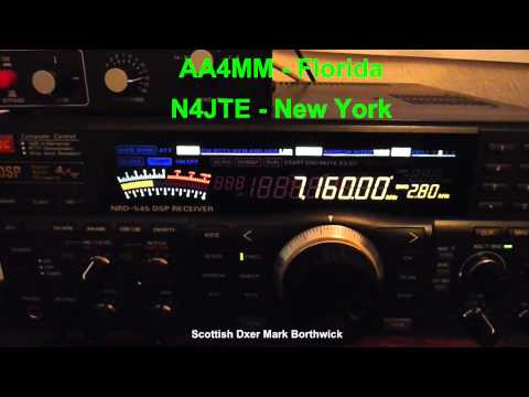 Ham Radio DX - American Amateur Radio Stations on 40m Received In Scotland
