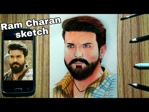 How to draw Ram Charan from movie Rangasthalam : Colour Pencil Sketch