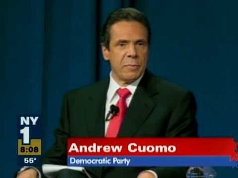 Andrew Cuomo at Gubernatorial Debate at Hofstra