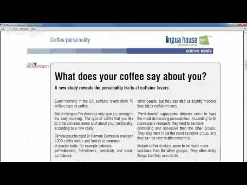 Reading:  Coffee Personality