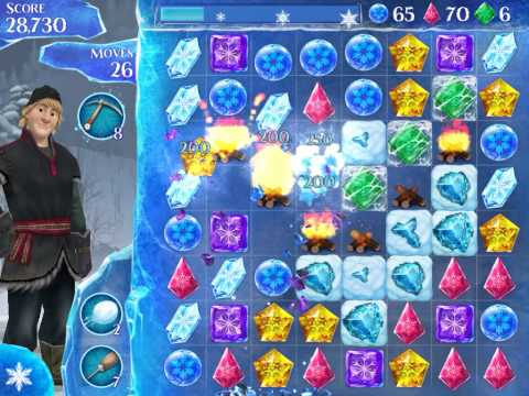 Frozen Free Fall Level 238 Live Action Play Walkthrough
