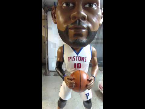 Detroit Piston Greg Monroe's Life Size Bobblehead by The Bobblehead LLC