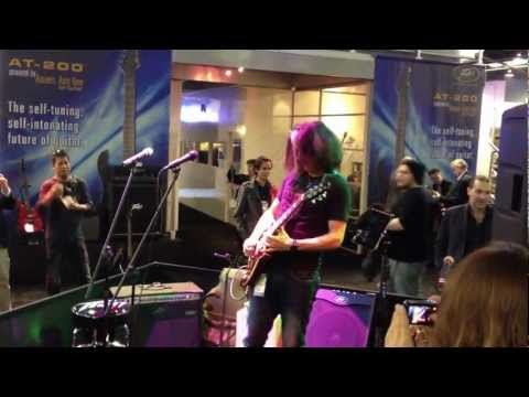 Alex Skolnick Plays AmpKit Metal at NAMM 2012, Part 1