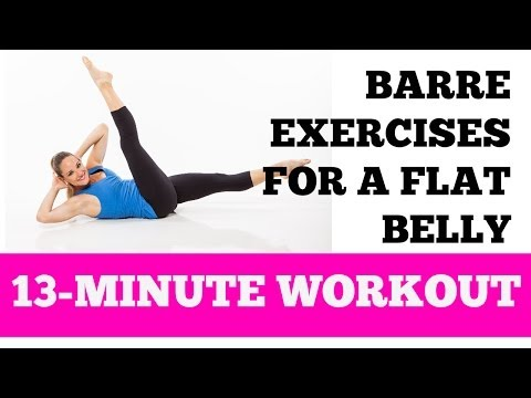 Flat Belly Barre Abs Exercises: 13-minute Home Ab And Oblique Workout For All Levels video