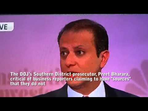 Preet Bharara on CNBC critical of reporters amking up bogus sources on SAC Capital