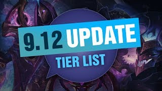 UPDATED League of Legends Mobalytics Patch 9.12 Tier List New OP Champions And Q&A
