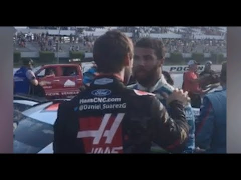 Bubba, Suarez have heated argument on pit road
