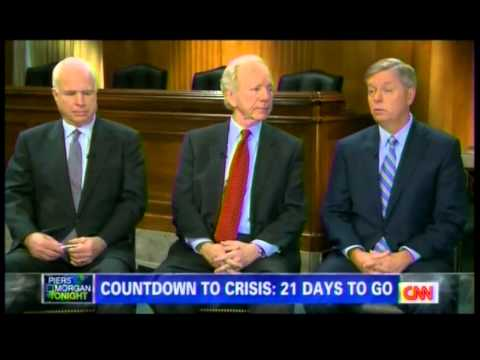 SENATORS McCAIN, LIEBERMAN AND GRAHAM ON CNN'S PIERS MORGAN TONIGHT 12-11-12 PART 2