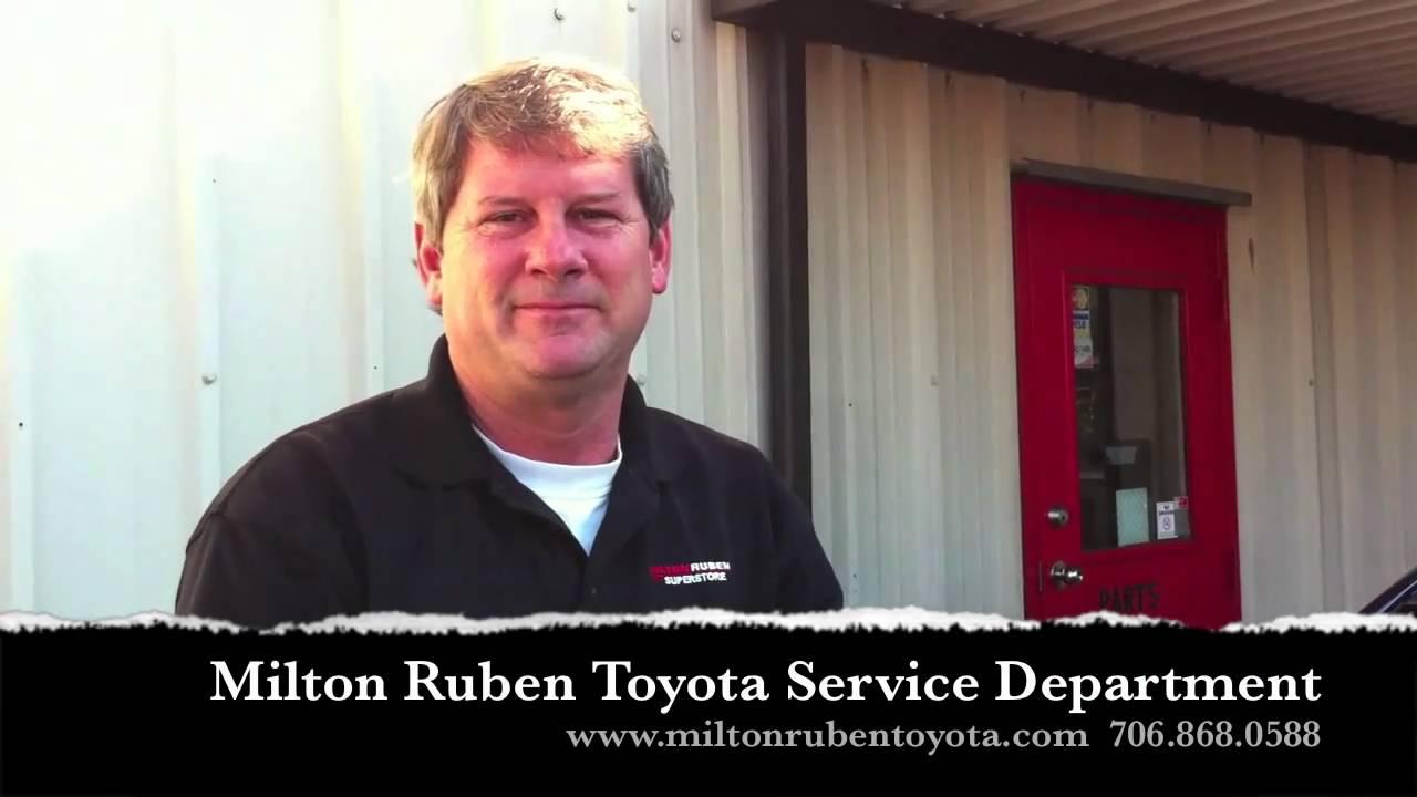 Milton Ruben Toyota Service >> How to Change Wiper Blades on 2011 Camry - Milton Ruben Toyota of Augusta - YouTube
