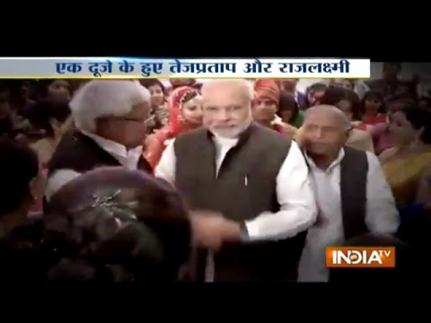 PM Modi and Sonia Gandhi Attend Wedding Reception of Lalu Yadav's Daughter - India TV