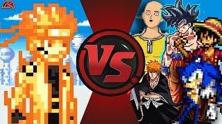 NARUTO vs THE WORLD! (Naruto vs Goku, Saitama, Sonic, Luffy, Ichigo, Aang & More!) Animation Rewind