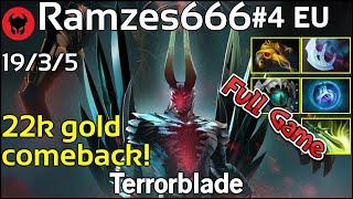 Ramzes666 plays Terrorblade!!! Dota 2 Full Game 7.19