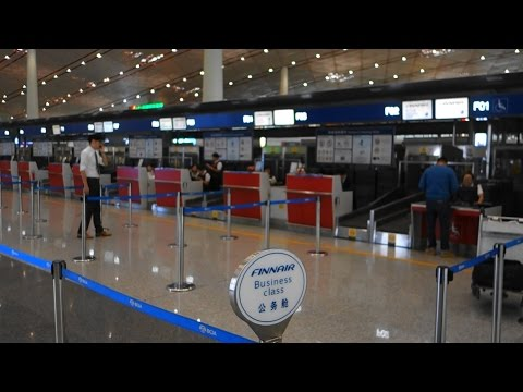 Finnair Check in Area Beijing Capital Airport