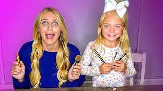 6 Year Old Everleigh Does Her Mommy's Make-Up And Hair!!!
