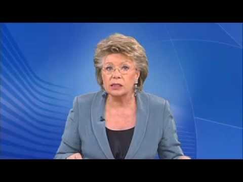 Videogruß von EU-Kommissarin Viviane Reding zur women&work