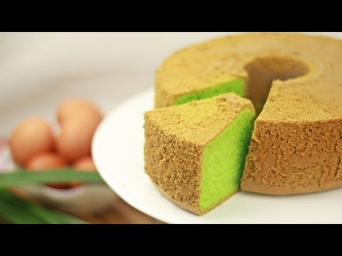 Pandan Chiffon Cake - Singapore - Recipe By ZaTaYaYummy