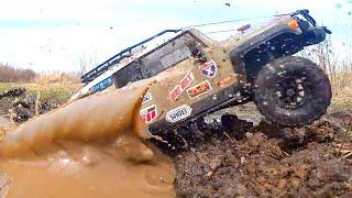 RC Cars Extreme OFF Road Track — Axial SCX10 II Jeep Cherokee, Hummer H2, FJ Cruiser HPI Ventura