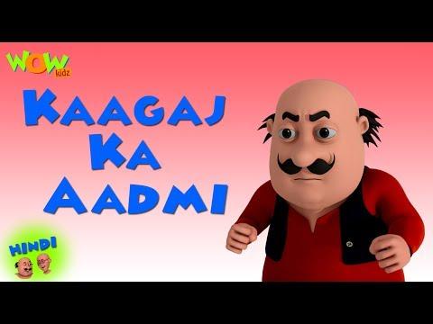 Kaagaj Ka Aadmi  - Motu Patlu in Hindi - 3D Animation Cartoon - As on Nickelodeon thumbnail