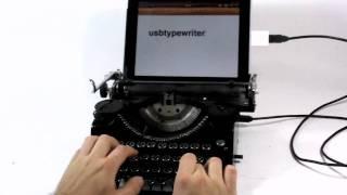 Thumb Máquina de escribir conectada con un iPad