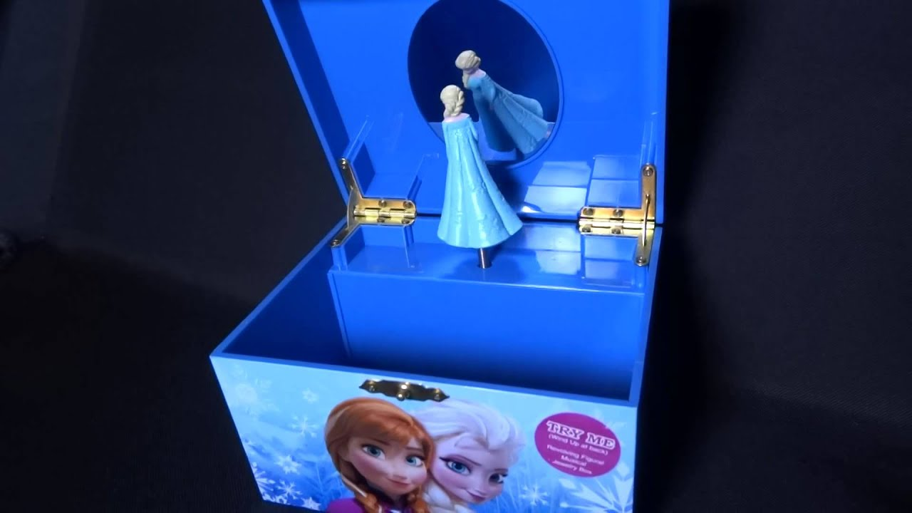 Frozen elsa anna jewelry music box plays let it go youtube