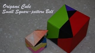 Origami Cube (small Pattern Belt Unit) - How To Fold An Origami Cube