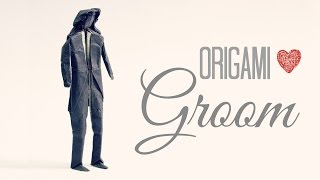 How To Make An Origami Groom / Wedding (tadashi Mori)