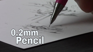 Tiny Tiny 0.2mm Mech Pencil Drawing (ง ° ͜ ʖ °)ง