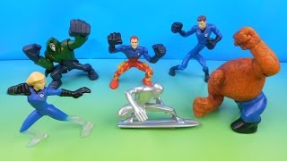 2007 FANTASTIC 4 RISE OF THE SILVER SURFER SET OF 6 BURGER KING KID'S MOVIE TOY'S VIDEO REVIEW
