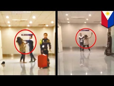 Loud Chinese tourist slapped by customs officer at Manila International Airport