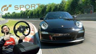 Зелёный АД на НОВОМ руле и Porsche 911 GT3 в Gran Turismo Sport