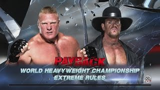 WWE 2K16 - Brock Lesnar vs. The Undertaker - Extreme Rules World Title Match
