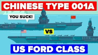 Aircraft Carrier Comparison: Chinese Type 001A VS The US Ford Class Carrier