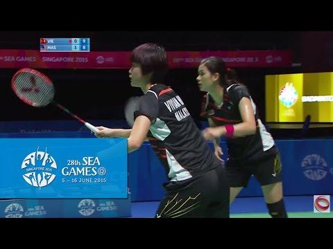 Badminton Women's Team Malaysia vs Vietnam Match 5 (Day 5) | 28th SEA Games Singapore 2015
