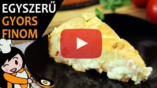 Sonkás-krémsajtos-zöldséges torta - Recept Videók