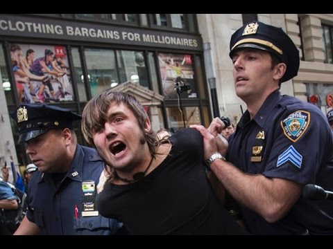 Pepper Spray, Arrests and Giant Balls, Flood Wall Street