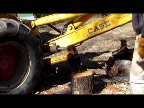 Backhoe Mounted Wood Splitter