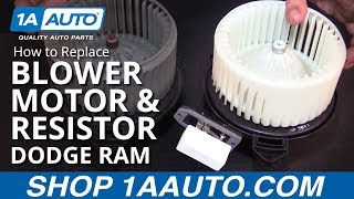 How to Replace Install Blower Motor and Resistor 2002-08 Dodge Ram 1500 BUY AUTO PARTS AT 1AAUTO.COM
