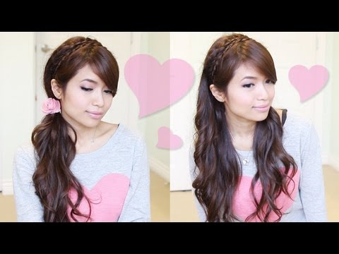 Romantic Braided Headband Hairstyle