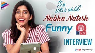 Nabha Natesh Facebook Live Interview | Nannu Dochukunduvate Movie | Sudheer Babu | Telugu FilmNagar