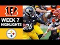 Lagu Bengals vs. Steelers | NFL Week 7 Game Highlights