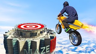 99% IMPOSSIBLE FLYING JET BIKE CHALLENGE! (GTA Gun Running DLC)