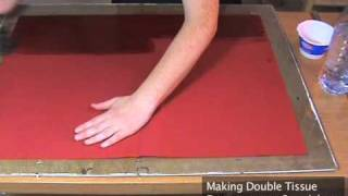 Making Double Tissue (origami Paper)