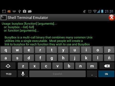Команды в Android Terminal Emulator