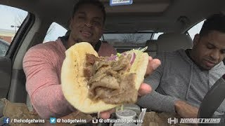 Eating Arby's Greek Gyro @hodgetwins