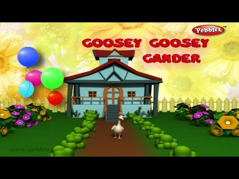 Goosey Goosey Gander   Nursery Rhymes With Lyrics   Nursery Poems   3D Nursery Rhymes For Children