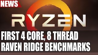 AMD Ryzen 4 Core 8 Thread Raven Ridge | First Performance Numbers Leaked